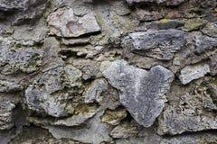 Gammal stenvägg gammal textur för tegelstenar Kvartertextur Royaltyfria Bilder