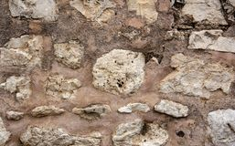 Gammal stenvägg som skjutas som bakgrunden royaltyfri foto