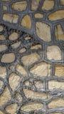 Gammal stenv?gg i Turkiet royaltyfria bilder