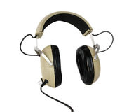 gammal stil för hörlurar Arkivfoto