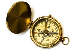 gammal stil för mässingskompass Royaltyfria Bilder