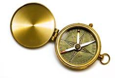 gammal stil för mässingskompass Royaltyfri Fotografi