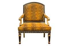 Gammal-stil stol som isoleras på vit bakgrund Arkivfoton