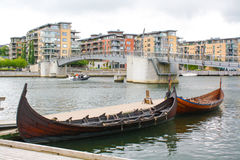 Gammal stil viking Arkivbilder