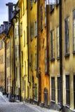 gammal stockholm för facades town royaltyfri fotografi