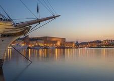 gammal stockholm town sweden Arkivfoto