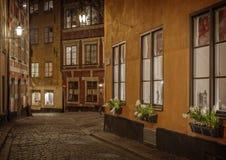 gammal stockholm town sweden Arkivbild