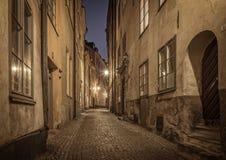 gammal stockholm town sweden Royaltyfri Bild