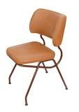 Gammal stol isolerad vit Arkivfoton