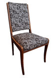 Gammal stol som isoleras på vit bakgrund Arkivbild