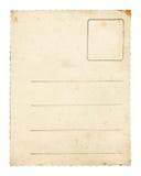 gammal stolpe för kort arkivbild