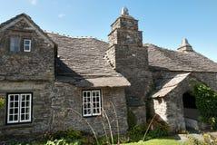 Gammal stolpe - kontor i Cornwall Royaltyfri Foto