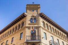 Gammal stolpe - kontor i den historiska mitten av Huesca Royaltyfria Bilder