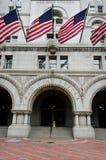 gammal stolpe USA washington för byggnadsdc-kontor Arkivbild