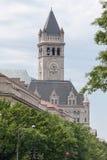 Gammal stolpe - Washington DC för kontorsklockatorn Arkivfoto