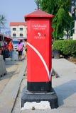 Gammal stolpeask av den Thailand stolpen Royaltyfri Bild