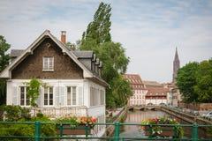 gammal strasbourg town Royaltyfri Bild