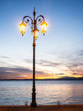 Gammal streetlamp Royaltyfri Bild