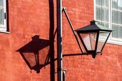 Gammal streetlamp Royaltyfri Foto