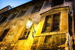 Gammal streetlamp Arkivbilder