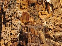 Gammal stubbe för trästrukturinsida Arkivfoton
