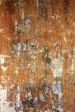 Gammal stuckaturväggtextur av brun färg Royaltyfria Bilder