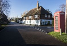Gammal stuga, Chartham, Kent, UK arkivbild