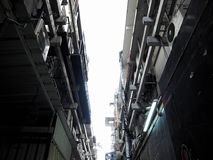 Gammal substreet i bangkok arkivbilder