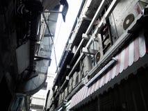 Gammal substreet i bangkok royaltyfri bild