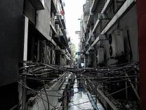 Gammal substreet i bangkok arkivbild