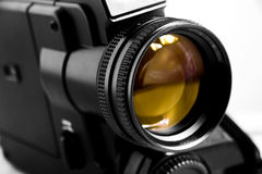 gammal supervideo för svart kamera 8 Fotografering för Bildbyråer