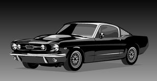 gammal svart bil Arkivbilder