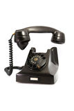 Gammal svart telefon Arkivfoton