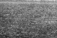 Gammal svart - vit tegelstenvägg, bakgrund, textur 23 Royaltyfri Foto