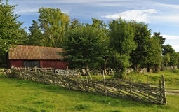 gammal svensk för arkitektur Royaltyfria Bilder