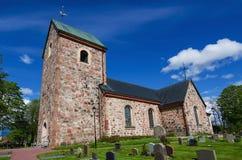 Gammal Sverige kyrka Royaltyfria Bilder