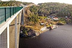 Gammal Svinesund bro Arkivfoto