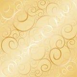 gammal swirl för guld Royaltyfria Bilder