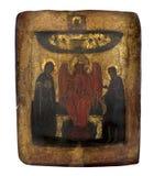 Gammal symbol av det 19th århundradet som isoleras över vit Arkivbilder