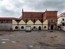 Gammal synagoga i Cracow Arkivbilder