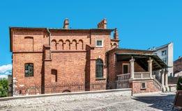 Gammal synagoga i Krakow, Polen Arkivfoto