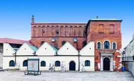 Gammal synagoga i Krakow, Polen Arkivfoton