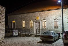 Gammal synagoga i Rosh Pina royaltyfri foto