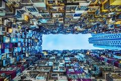 Gammal tät byggnad i Hong Kong Royaltyfri Fotografi