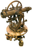 gammal tacheometertheodolite för utklipp Royaltyfri Foto