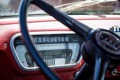 Gammal 50-talvadställelastbil Royaltyfri Fotografi