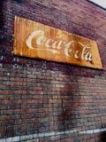 Gammal tappning Coca Cola Sign Arkivfoto