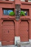 gammal tappning för dörrar Arkivfoto