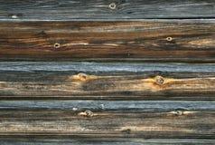 Gammal tappning planked wood bräde Royaltyfri Fotografi