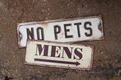 Inga husdjur Arkivbilder